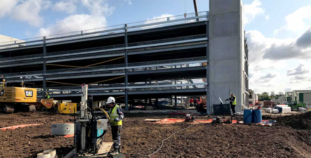 ERD and ISCR used to remediate chlorinated solvents on an active redevelopment site